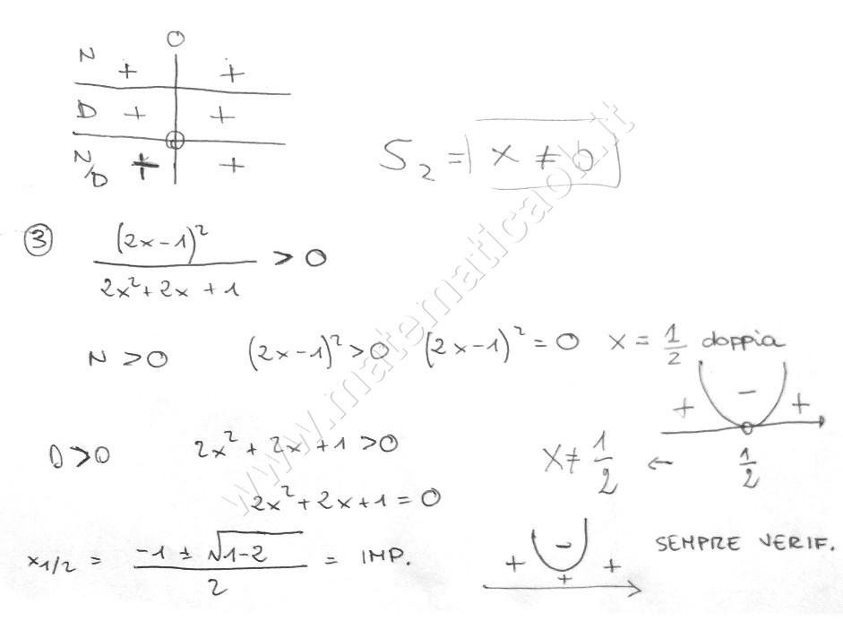 Sistema disequazioni fratte