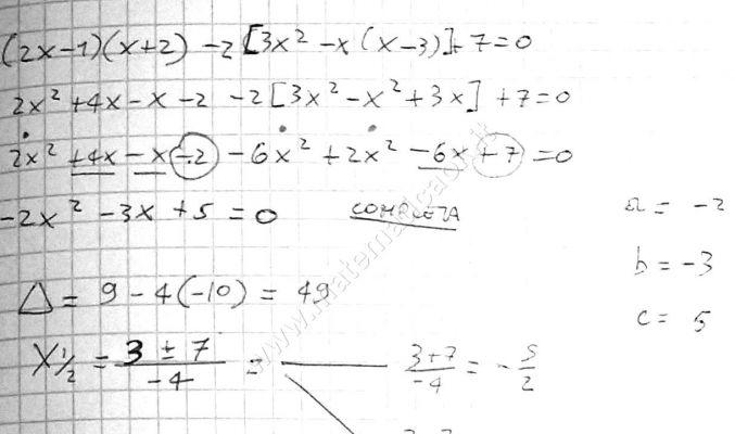 Equazioni di secondo grado atematica k - Tavola di tracciamento secondo grado ...