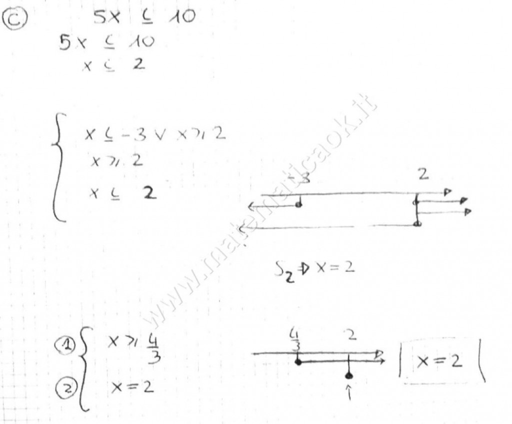 Disequazioni irrazionali - sistema