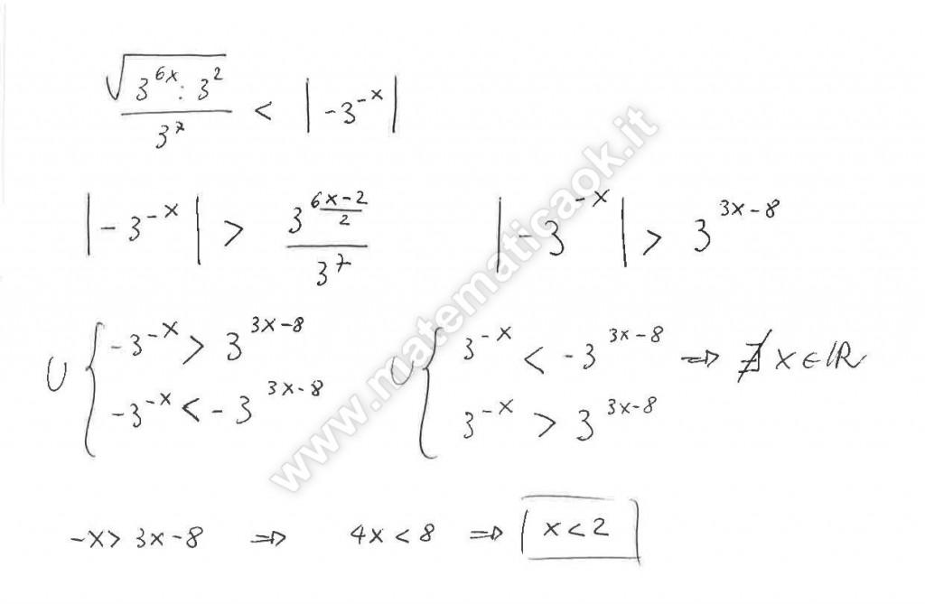 Disequazioni esponenziali