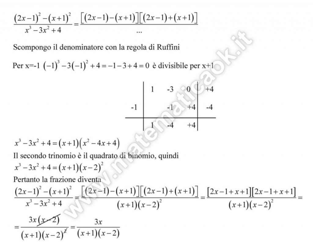 Frazioni algebriche