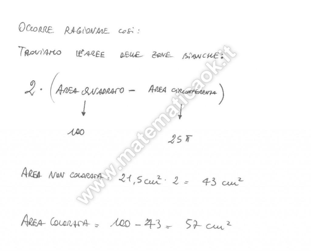 Quadrato e semicirconferenze