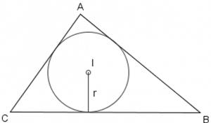 raggio di una circonferenza inscritta in un triangolo