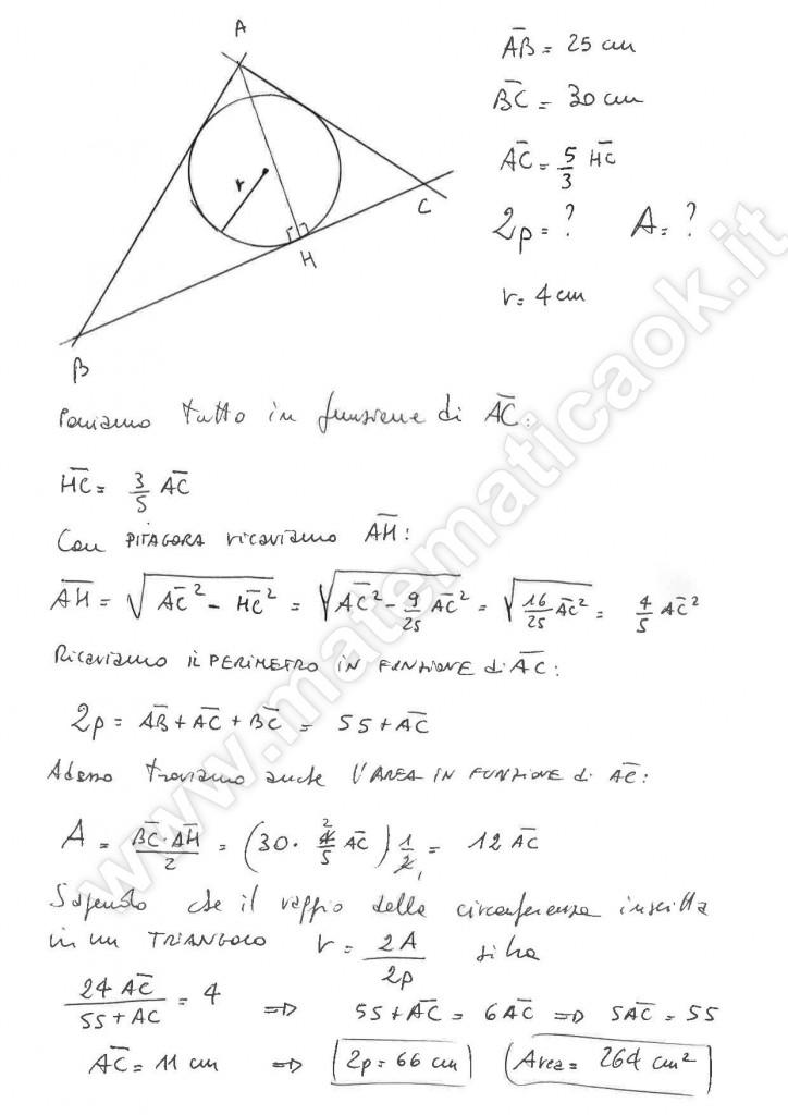 Triangolo e circonferenza inscritta