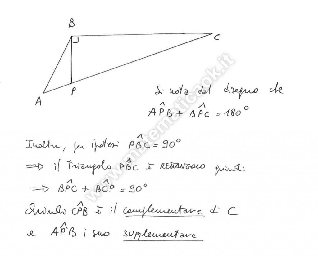 Triangolo ottusangolo - dimostrazione