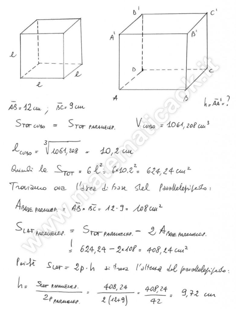 Cubo e Parallelepipedo rettangolo
