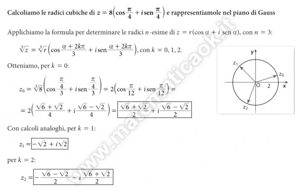 Radice cubica di numero complesso in forma trigonometrica