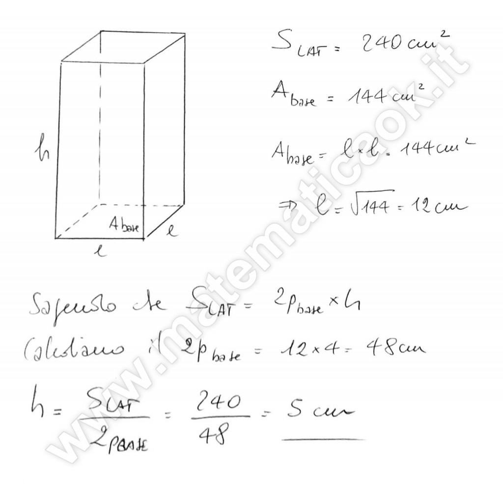 Parallelepipedo a base quadrata