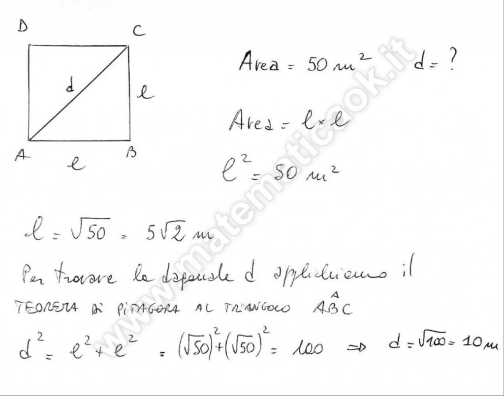 Diagonale del quadrato