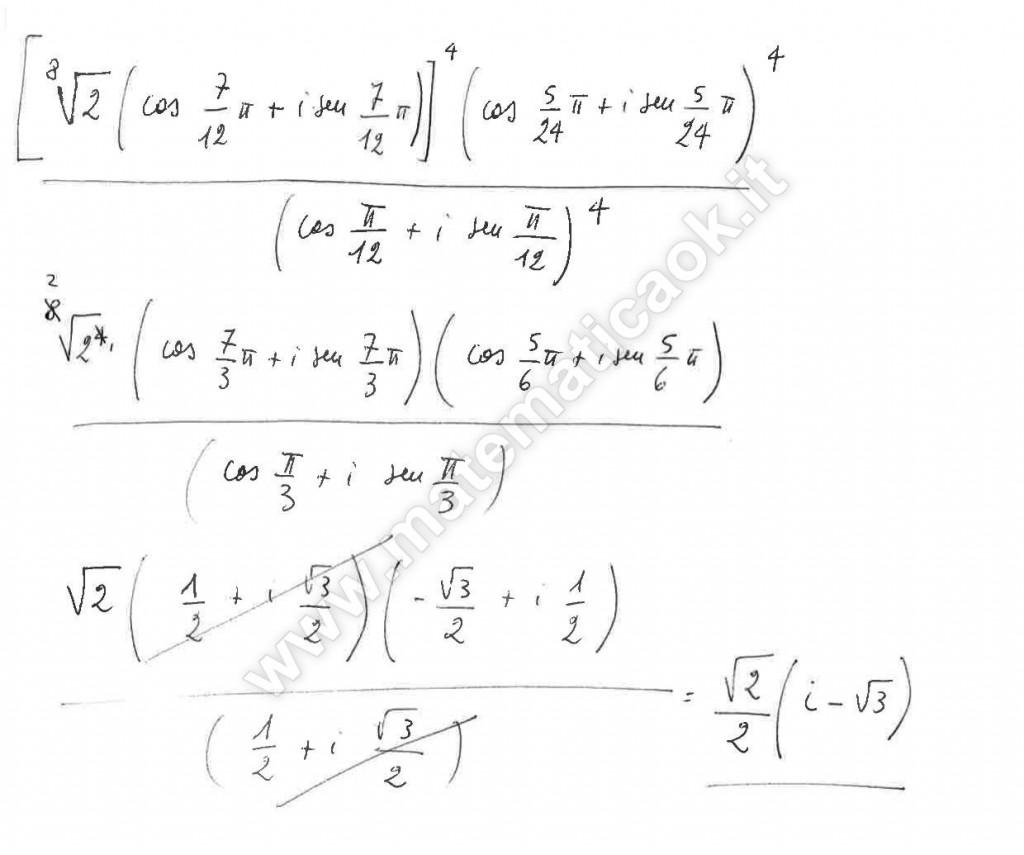 Espressione di numeri complessi in forma trigonometrica