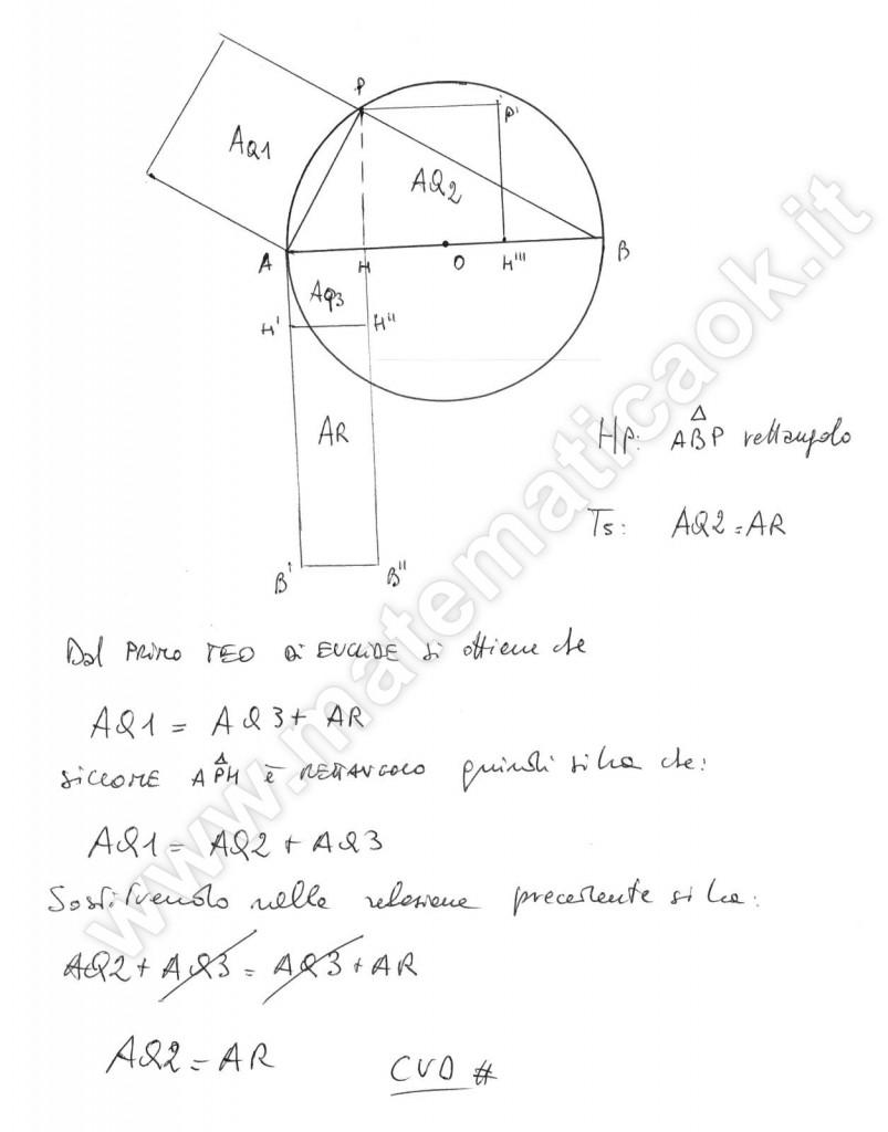 Dimostrazione secondo teorema di Euclide