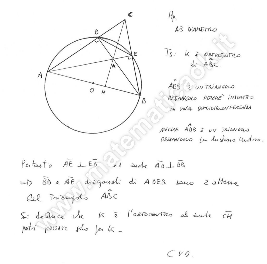 Triangolo e quadrilatero inscritto