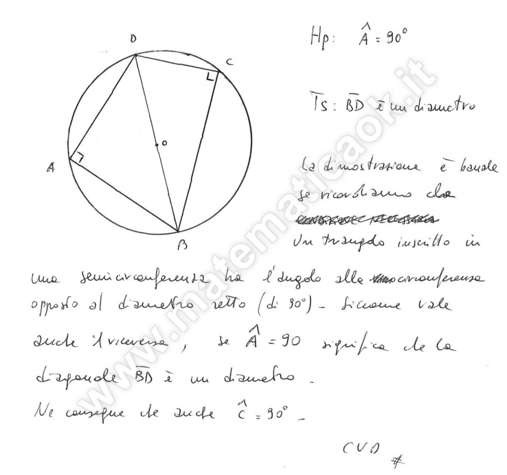 Quadrilatero inscritto in circonferenza