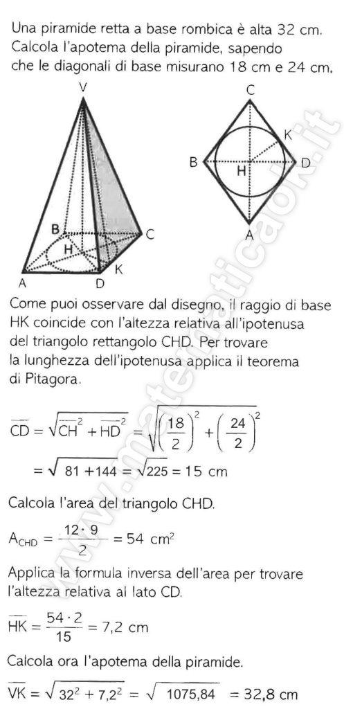 Piramide retta a base rombica