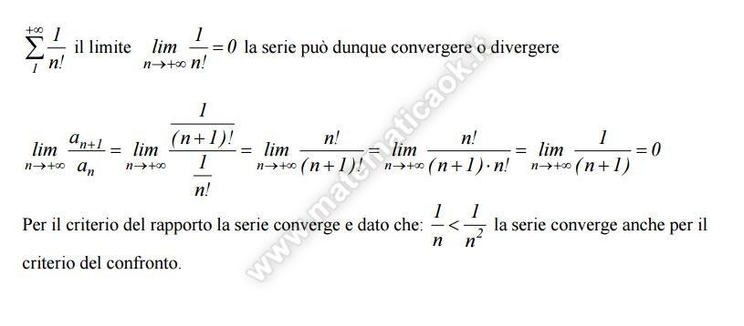 Studiare la convergenza della serie