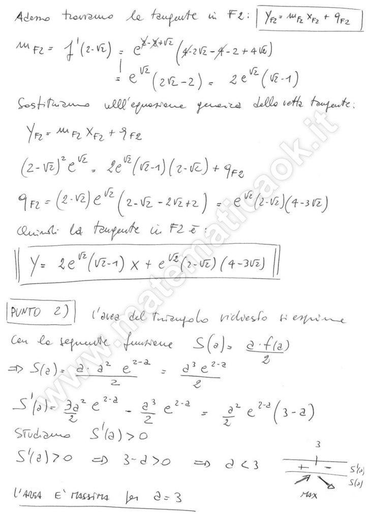 Simulazione Maturità 2016 - Problema 2