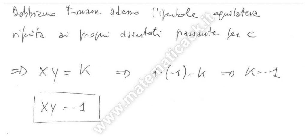 Circonferenza, retta, iperbole equilatera