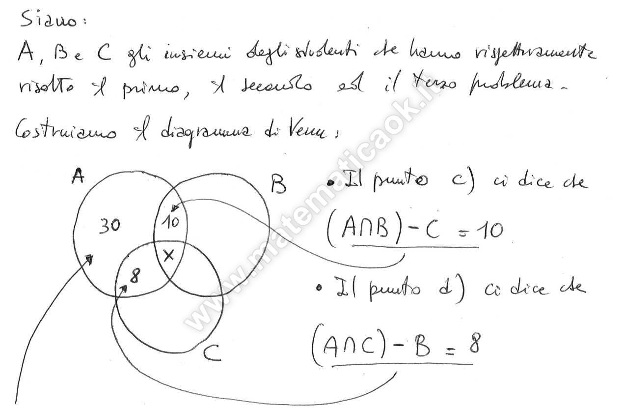 Esercizio 7 diagramma di venn ed equazioni di primo for Problemi di primo grado a due incognite esercizi