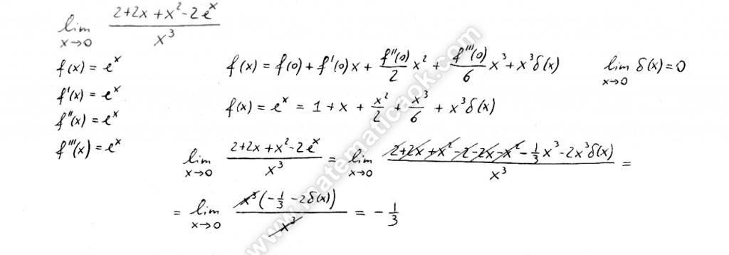 Formula di Mac-Laurin con il resto di Peano